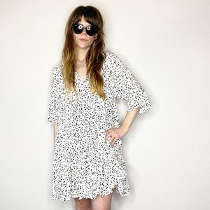 NWT Olivaceous painted spot ruffle tunic dress